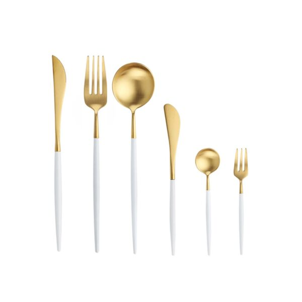 Atsevišķi galda piederumi   zelts+balts