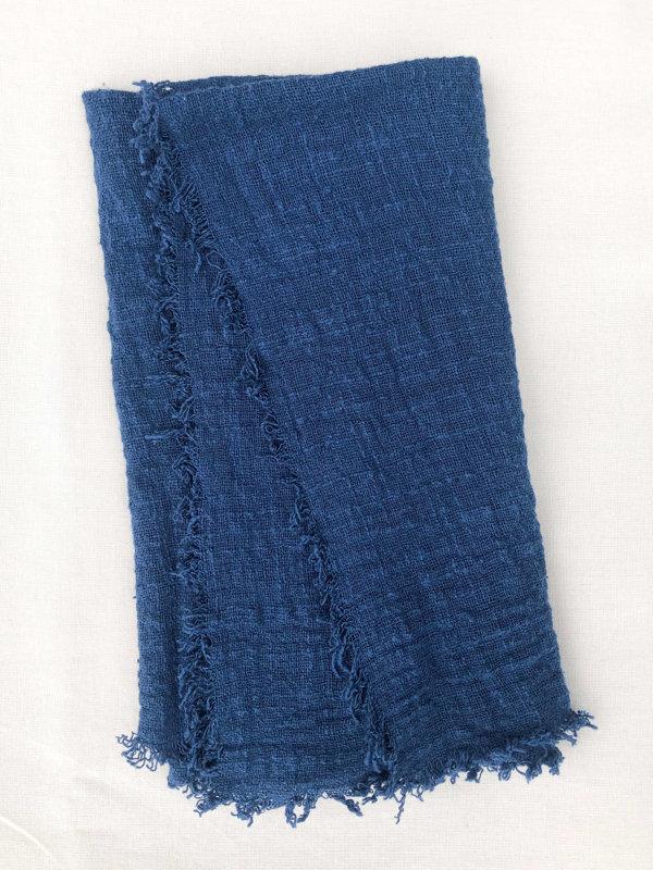 Tumši zilas kokvilnas salvetes
