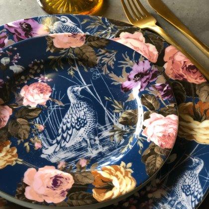 Garden sērijas šķīvji + galda piederumi + Amber glāze