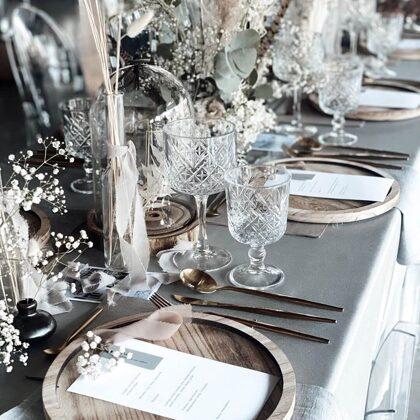 Zeltīti galda piederumi + Sparkle glāze / Baiba Prindule-Rence