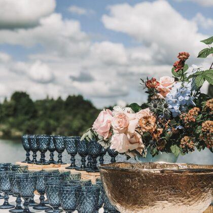 Bārs kāzās + Royal zilas glāzes / Ideju Aģentūra